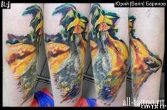 Милая татуировка «Жар птицы»