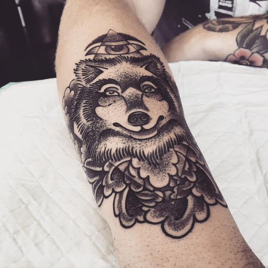 Волк на руке