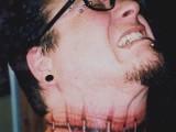 3d шрам на шее - татуировка