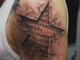 3d татуировка звезда на плече