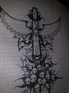 Эскиз тату на тему «Ракетные войска»