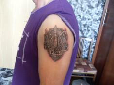 Тату на плече «РВСН»