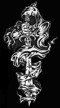 Эскиз тату «Смерть с мечом»
