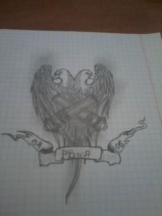 Эскиз татуировки «Эмблема РВиА»