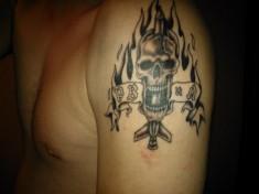 Татуировка на плече «РВиА»