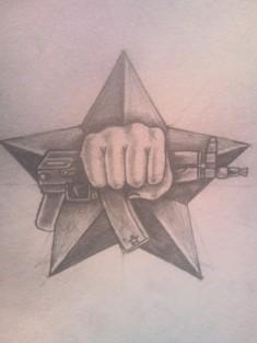 Эскиз татуировки на тему «Спецназ»