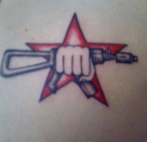 Цветная татуировка на тему «Спецназ»