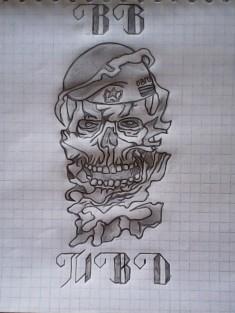 Эскиз татуировки «ВВ МВД»