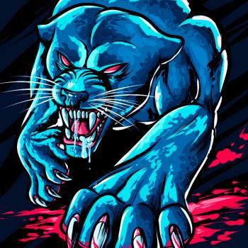 Арт эскиз тату «Пантера»