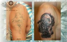 Татуировка перекрытие армейская снайпер