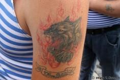 Тату волка в огне