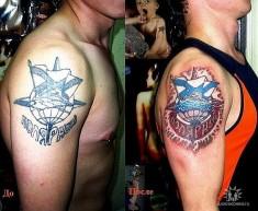 Переделанная татуировка в цвет «Полярный»