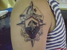 Татуировка на плече «Севастополь»