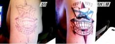 Переделанная в цвет тату «Полярный»